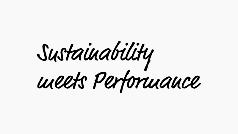 "Sympatex claim ""Sustainability meets Performance"""