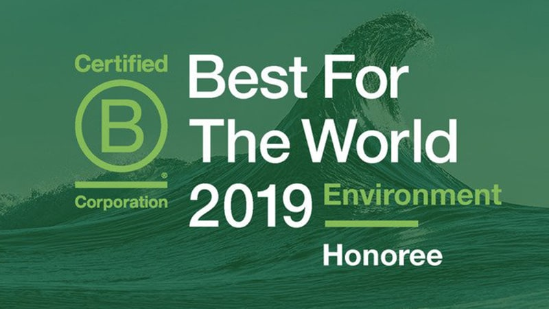 "Sympatex receives ""2019 Best For The World"" B Corp certification for sustainability and environmental friendliness from the renowned US-based nonprofit organization B Lab"